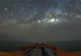 the milky way seen from cargo ship