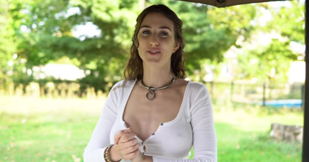 Braless Babe Makes A Dry Martini
