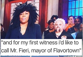 the mayor of flavortown meets judge judy