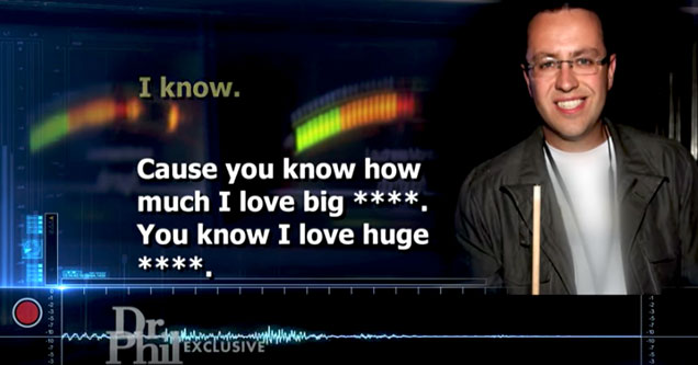 disturbing audio tapes of Jared Fogle and his targeting of children