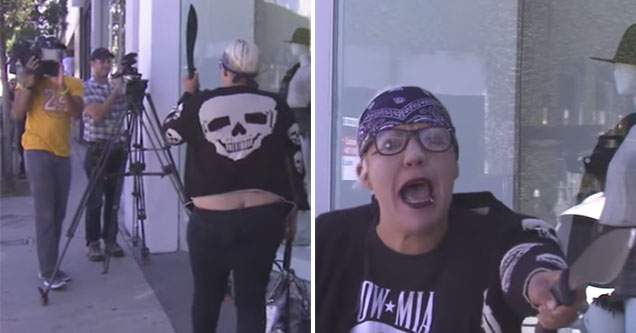 woman freaks out in west hollywood