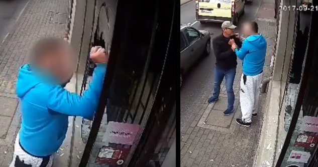 Vandalizing Thug Gets A Taste of  Instant Karma