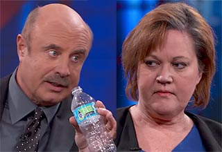 Dr. Phil and Vodka filled water bottle of a guest