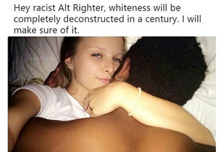 white girl with black man in bed