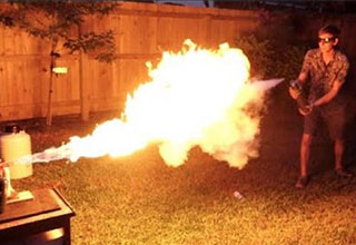 Battle of the elements- flamethrower versus liquid nitrogen