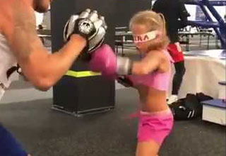 Little Girl Proves Even Blindfolded She Is a Boxing Badass