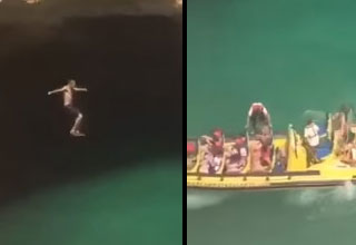 Guy's Cliff Jump Ends Unexpectedly
