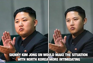 fat and skinny version of kim jong un