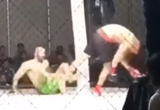 MMA Fighter DESTROYS His Opponent While On His Back