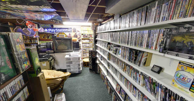 Video game collection.