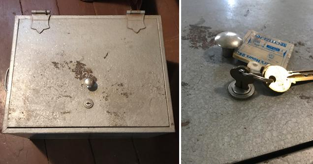 lockbox with key