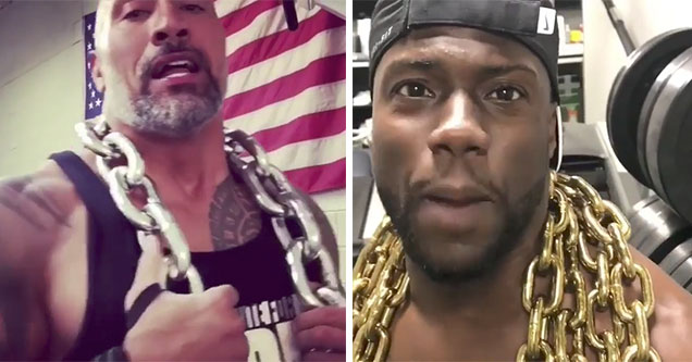 kevin hart and the rock have beef