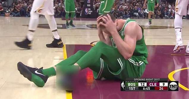 Gordon Hayward Broke His Ankle 6 Minutes Into The First Game of The Season