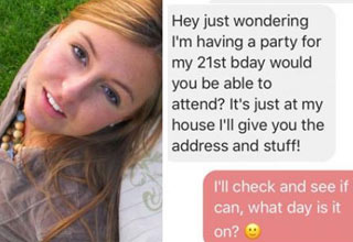 Dude Invites His Crush To Party But Gets A Rude Awakening