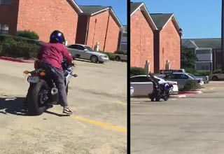 Soldier Lets Mom Ride His Motorcycle And It Ends Terribly