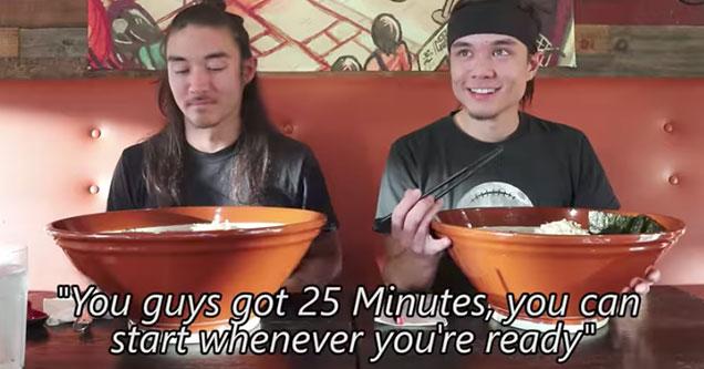 25 minute ramen challenge