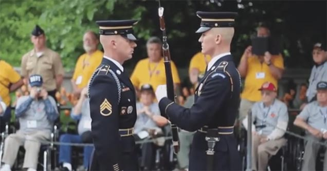rifle inspection with added sound effects