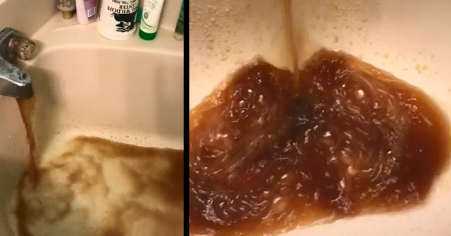 Woman In Louisiana Is Forced To Deal With This Disgusting Water On A Daily Basis