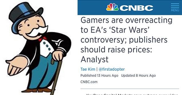 people think gamers should be spending more on in game purchases not less