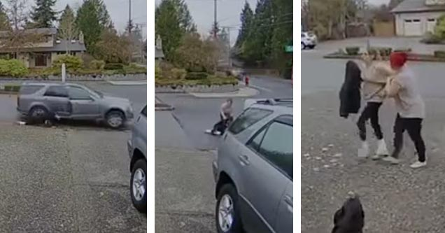 Super Nanny Runs Down Package Thief After Getaway Car Takes Off