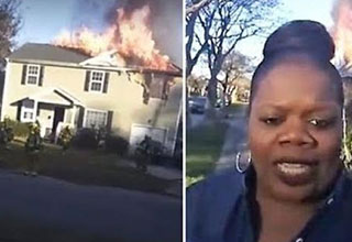woman solves an arson case of facebook live