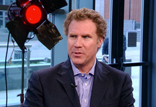 will ferrell jokes along with hilarious fake interviewer