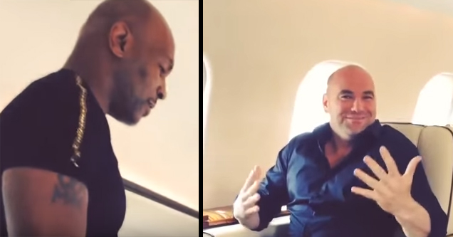 mike tyson tells dana white to get out of his seat
