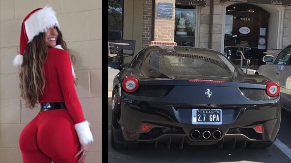 sexy ms claus and ferrari