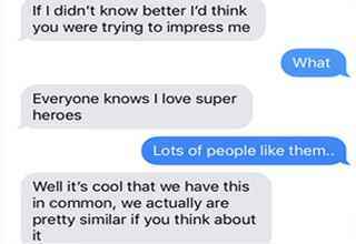 iphone texts between a nerd and his crush