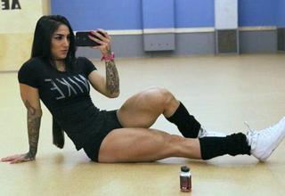hot girl with buff legs