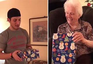 grandma gets the best Christmas present