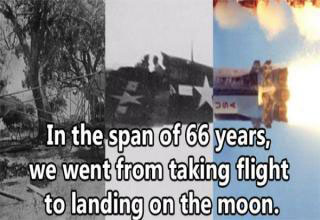cool fact about how fast we went to the moon after first flying