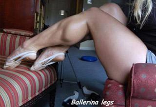 muscular ballerina legs