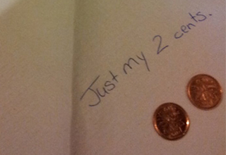 Two cent tip.