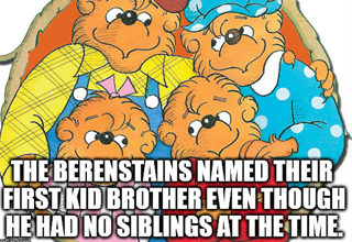 Brother Berenstain named before he had sibling