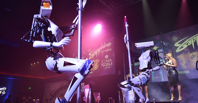 Robot strippers grind the pole in Vegas