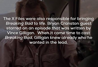 x-files fact about brian cranston and breaking bad