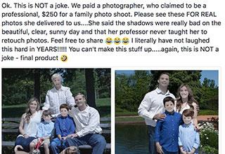 hilariously bad family portraits