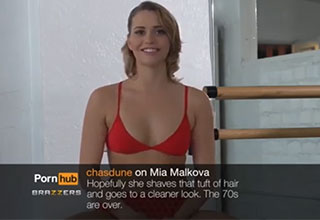 Porn Star Mia Malkova reading mean comments
