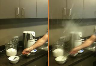 Microwaved hard-boiled egg explodes
