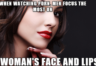 Men focus most on a woman's face while watching porn