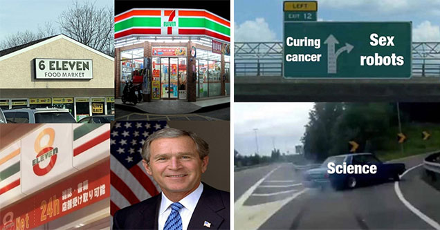 George Bush 911 meme and a car drifting meme