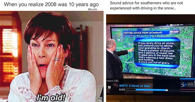 freaky friday meme and a weather report meme