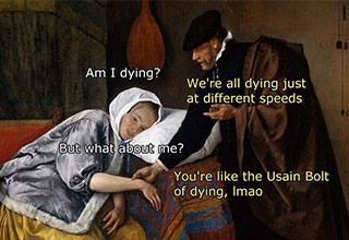 medieval history meme about women and dying
