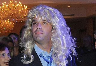 Donald Trump Jr in a wig making him look like Ivanka