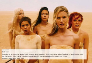 mad max women with text about how they are perfectly shaved
