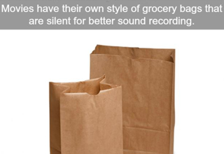 Bags in films are made to be silent