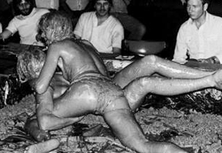 Mud wrestlers of old