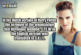 fact about harry potter and a picture of emma watson