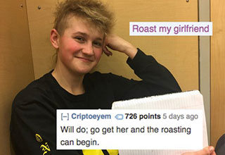 girl who looks like a boy getting roasted